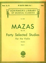 40 Selected Studies, Op. 36 - Book 1, Violin Method