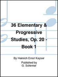 36 Elementary & Progressive Studies, Op. 20 - Book 1, Violin Method (87894)