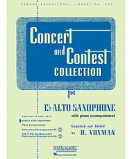 Concert And Contest Collection, Eb Alto Sax - Solo Part, Alto Saxophone - Solo Part