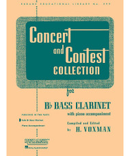 Concert And Contest Collections, Bb Bass Clarinet - Solo Part, Bb Bass Clarinet - Solo Part