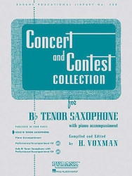 Concert And Contest Collection, Bb Tenor Sax - Solo Part, Tenor Saxophone - Solo Part