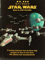 5 Finger Star Wars 10 Exciting Selections From The Movie Saga Arranged For Piano With Optional Duet Accompaniments