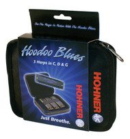 Hohner HB Hoodoo Blues Pro Pack Harmonica - Key of C,D,G
