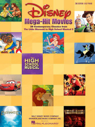 Disney Mega-Hit Movies, 38 Contemporary Classics From The Little Mermaid To High School Musical 2, Easy Piano