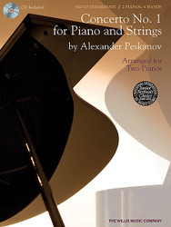 Concerto No. 1 For Piano And Strings, Arranged For Two Pianos, Book/Cd Pack