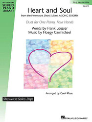 Heart And Soul, Hal Leonard Student Piano Library Showcase Pops Level 4 Duet, 1 Piano/4 Hands