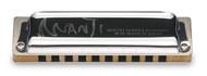 Suzuki M20 Manji M-20 Professional Diatonic 10-Hole Blues Harmonica, Key of G