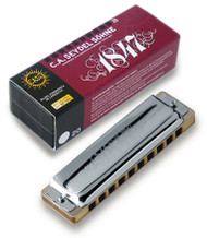 Seydel Blues 1847 Classic - Key of A (16201-A) Harmonica and Packaging