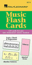Music Flash Cards - Set B, Hal Leonard Student Piano Library