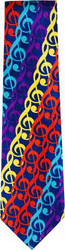 Necktie Colorful G Clefs