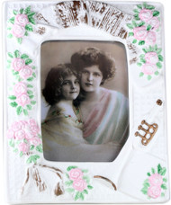 Porcelain Picture Frame - Trumpet and Roses
