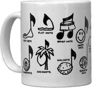 CMC Ceramic Mug - Notes Desig