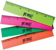 "Neon rulers with words ""got music?"