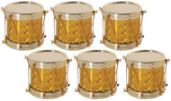 Golden Drum Ornaments Set of 6