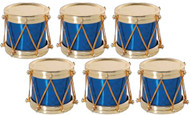 Drum Navy Holographic Ornaments Set of 6