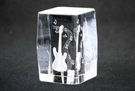 3D Laser Engraved Electric Guitar Paperweight