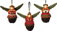 Kurt Adler Angels on Bells Ornaments Set of 3