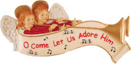 "Kurt S Adler Banner ""Oh Come Let Us Adore Him"" Wall Plaque"