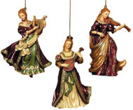 Kurt S. Adler Ornament- LADIES WITH INSTRUMENT