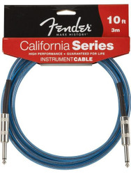 10' Fender® California Instrument Cable - Lake Placid Blue