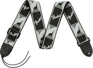 Fender Monogrammed Strap - Black/Light Grey/Dark Grey (099-0681-543)