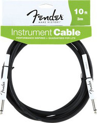 10' Fender® Performance Guitar Cable Black
