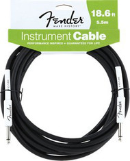 18.6' Fender® Performance Series Cables Instrument Cable - Black