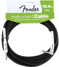 18.6' Fender® Performance Series Cables Angled Instrument Cable - Black