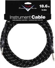 18.6' Fender Custom Shop Instrument Cable - Black Tweed (099-0820-037)
