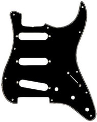 Fender Pickguard Standard Stratocaster Black 11-hole For 3 single coil pickup