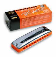 Seydel Blues Session Steel - Key of F (10301-F) Harmonica and Packaging