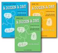 A Dozen a Day Technical Excercises for the Piano - 3 Book Set - Includes A Do..