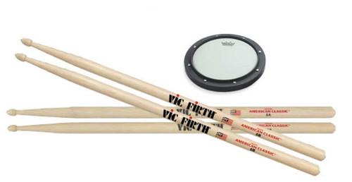 Practice Bundle #1: Drumsticks and Practice Pad (1106925)