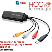 ET111 Conversor Video Compuesto RCA a HDMI