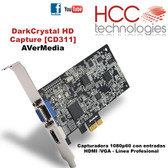 CD311 DarkCrystal HD Capture - Línea Profesional SDK [AVerMedia]
