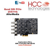 CE314 Quad SDI PCIe Capture Cards SDK  [AVerMedia] - Línea Profesional