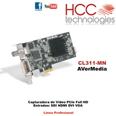 CL311-MN  - Capturadora Video Full HD 1080p 60fps Entradas SDI HDMI VGA DVI  - Línea Profesional SDK [AVerMedia]