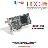 CL311-MN  - Capturadora Video Full HD 1080p 60fps Entradas SDI HDMI VGA DVI  - Línea Profesional SDK [AVerMedia]