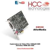 CD530 - Capturadora de Video PCIe VGA HDMI DVI 1920x1200 60fps - Línea Profesional SDK [AVerMedia]