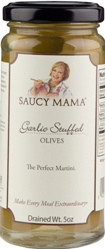 Olives- Saucy Mama Garlic Stuffed