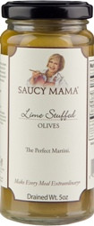 Olives- Saucy Mama Lime Stuffed