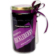 Huckleberry or Marionberry preserves (28 oz. jar with spoon)