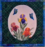 Iris and Butterflies Wallhanging