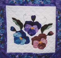 Pansy Wallhanging