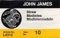 John James Straw Needles Sz 10