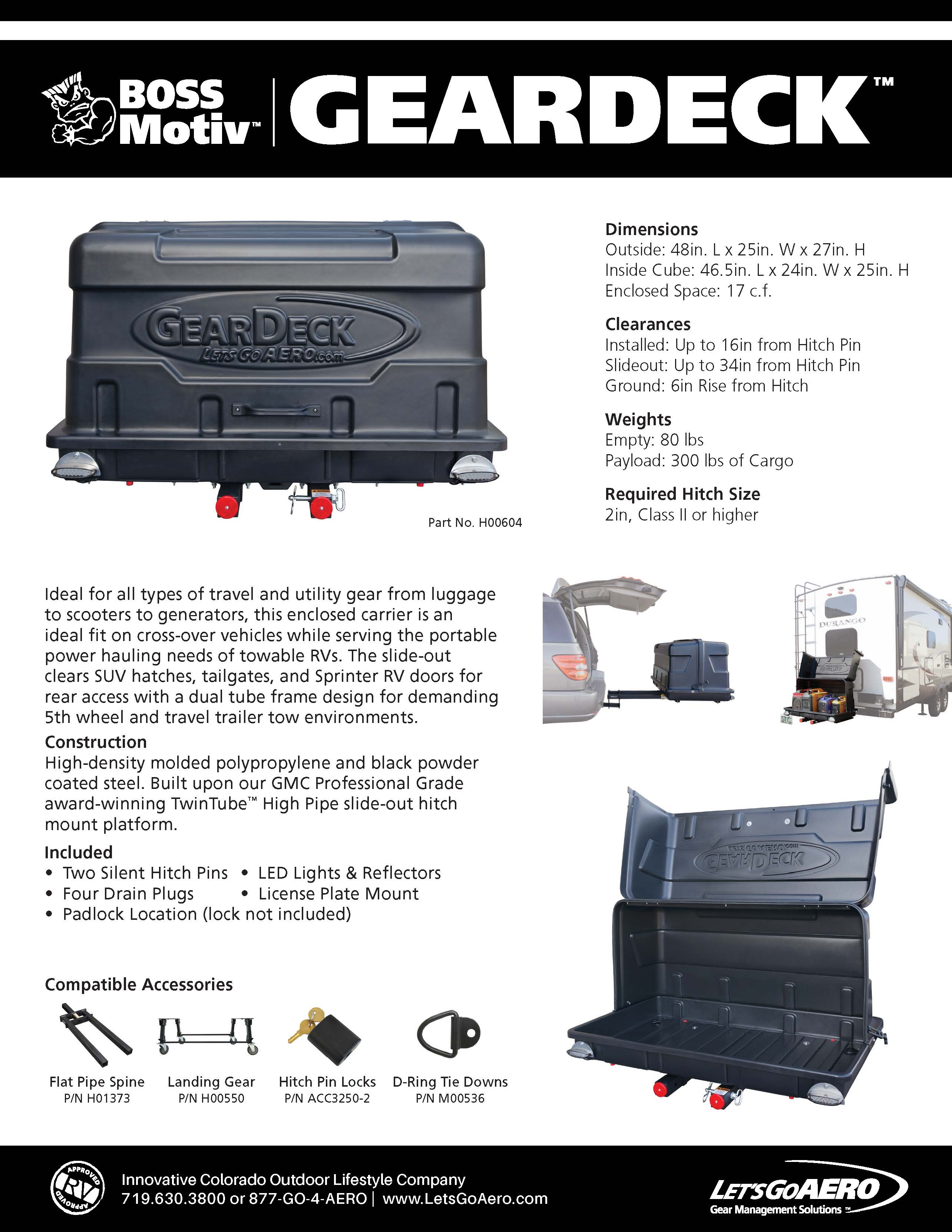 GearDeckCargo Carrier Catalog Page