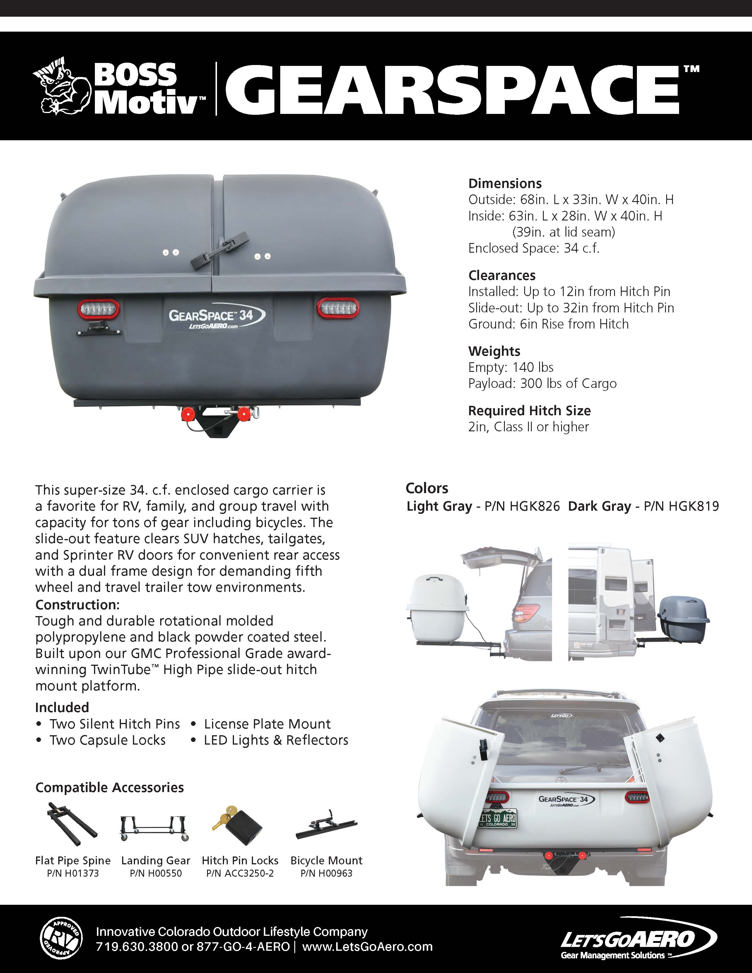 GearSpace Cargo Carrier Catalog Page