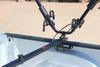 Close-up if Truck Bed Sill Fitting on Full Nelson Bicycles Truck Mount Carrier