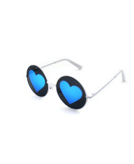 Vision of Love Reflective Heart Sunglasses (BL)