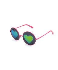 Vision of Love Reflective Heart Sunglasses (FL)